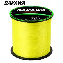 BAKAWA 300M 100% PE 4 Strand Braided Fishing Line Multifilament Fishing Line Super strong for Carp Fishing Wire