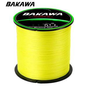 BAKAWA Braided Fishing-Line Multifilament Carp 4-Strand 300M for 100%Pe