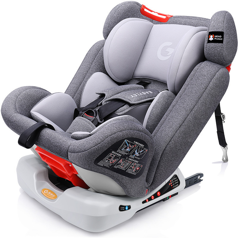 Brand Baby Car Safety Seats With ISOFIX Adjustable Child Car Seat 0-12Y Large Angle ComfortInterface Car Safety Seat