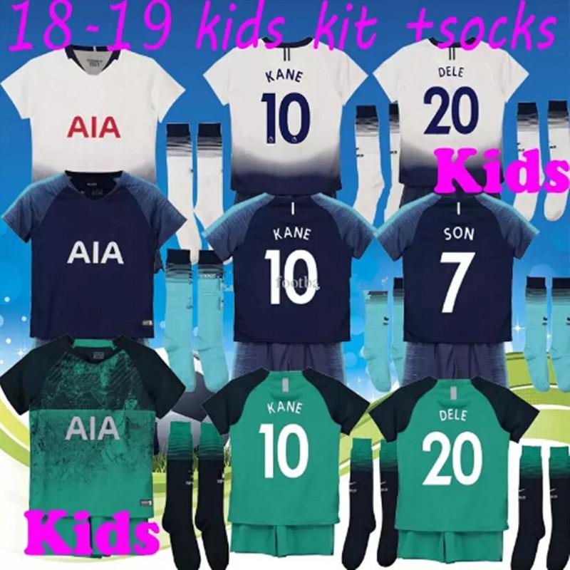 c740579b0 SPURS Tottenhames Soccer Jersey KANE DELE 2018 2019 Home away SON LAMELA  JANSSEN ERIKSEN TRIPPIER DELE Football Shirts