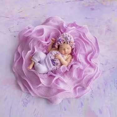 Baby Photo Prop Posing Pod Nest Basket Newborn Photography Props Fluff Blanket Background Filler Flora Fotografia Accessories