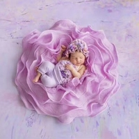 Bayi Foto Prop Berpose Pod Sarang Keranjang Baru Lahir Fotografi Alat Peraga Bulu Selimut Latar Belakang Pengisi Flora Fotografi Aksesoris