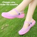 2016 Летний стиль обесцветить детские сандалии девушки пляж тапочки дети цветов конфеты обувь сандалии