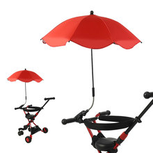 Baby Carriage Umbrella Kids Baby Sun Umbrella Parasol Buggy Pushchair Pram Stroller Accessories Shade Canopy Covers Parasol(China)