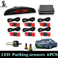 New Car LED Parking Sensor Kit 13mm/22mm 6 Sensor Backlight Display Monitor Auto Reverse Backup Radar System Detector