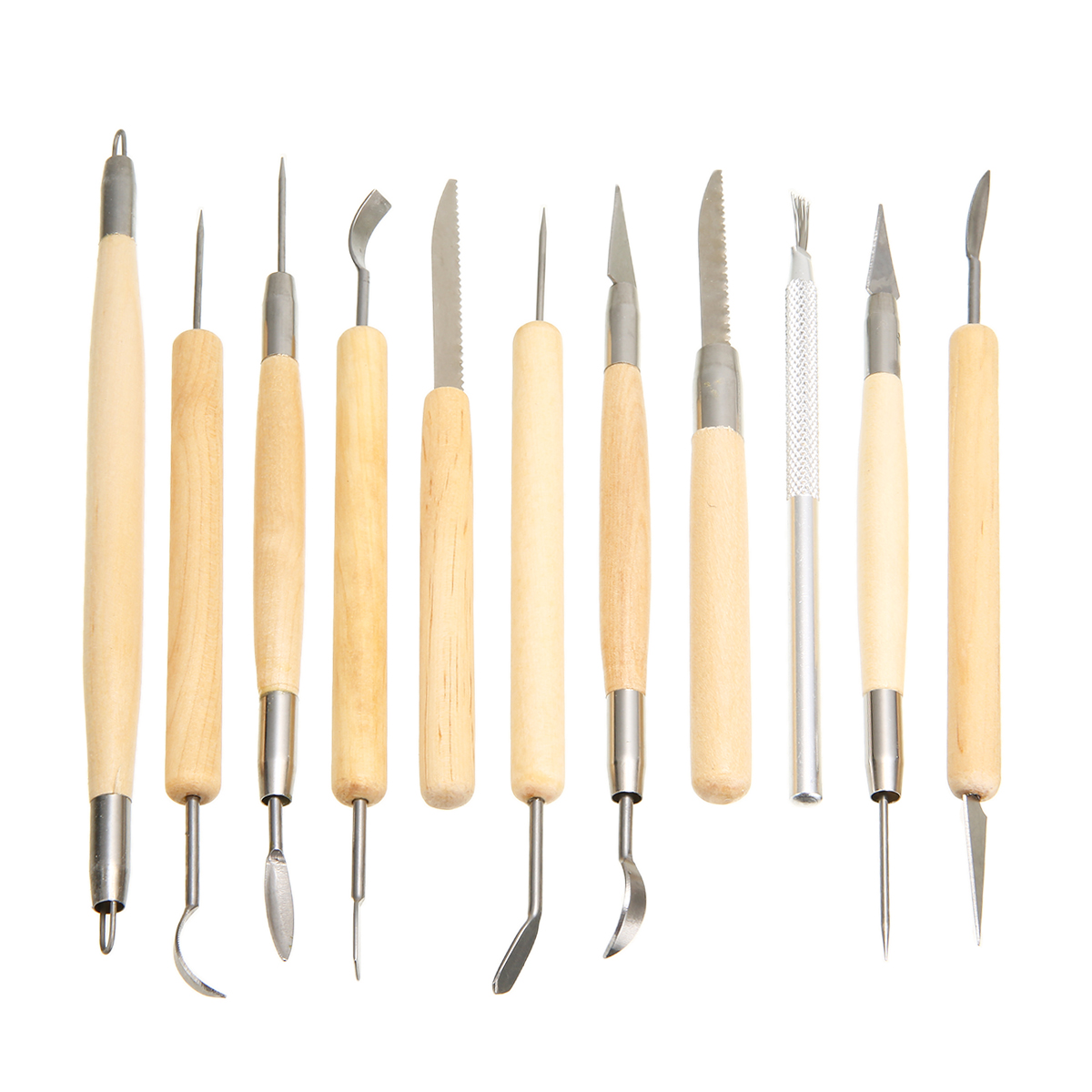 30pcs/set Carving Kit Pottery Clay Sculpture Modelling Wax Carving Pottery Ceramic Tools DIY Craft