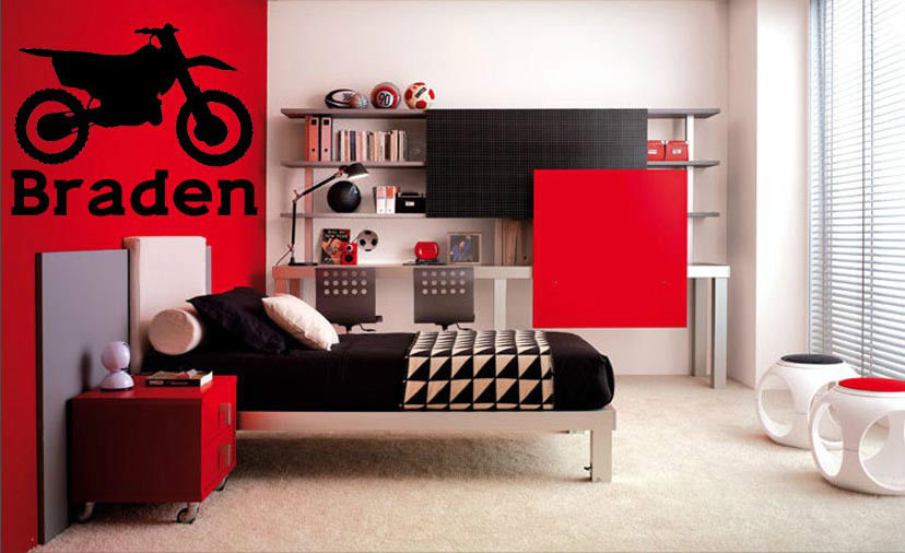Online buy wholesale motorcycle wall decal from china for Dirt bike wall mural