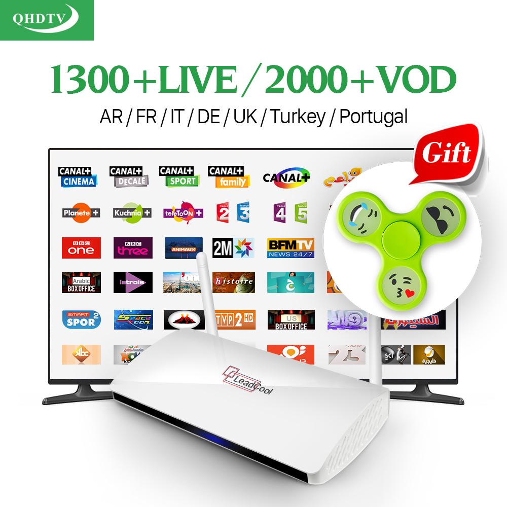 Prix pour Leadcool Intelligent Android TV Box Français ROYAUME-UNI Italie Portugal Livraison VIP QHDTV Chaîne à péage ne Europe Récepteur Arabe IPTV Top Box