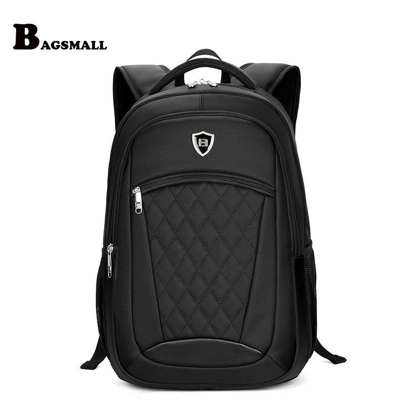 BAGSMALL Male Minimalism Travel Backpack Men's Business 15.6 inch Laptop Backpack Waterproof School Computer Bag For Teenager brand coolbell for macbook pro 15 6 inch laptop business causal backpack travel bag school backpack