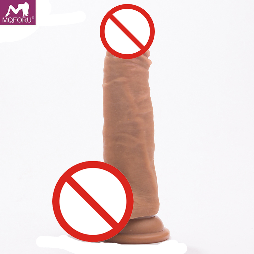 MQFORU Large Realistic Dildo Silicone Penis with Strong Suction Cup Cock Sex Toys Flexible Dildos for Women Adult Sex Products auto handfree retractable piston pricky male masturbation cup for men penis massage aircraft cup passion cup adult sex products