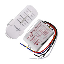 Hot 1/2/3 Way 220V Wireless Remote Control Switch 190V-240V ON/OFF Switches Transmitter Receiver Module Relay for Lamp Light