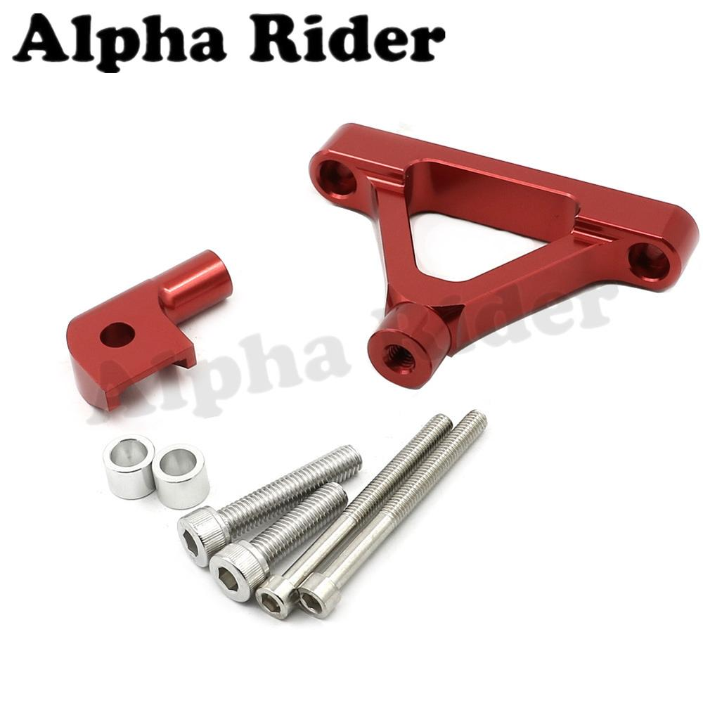 Red CNC Aluminum Direction Steering Damper Stabilizer Support Holder Bracket w/ Mounting Kits for Kawasaki Ninja ZX6R 2007-2008 cnc steering damper complete set for kawasaki zx6r 636 2007 2008 w bracket kits