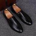 Мужчины скольжения на ленивых вождения квартиры обувь черный белый молодой дышащая кожа коровы летняя обувь мягкие мокасины офис повседневная zapatos