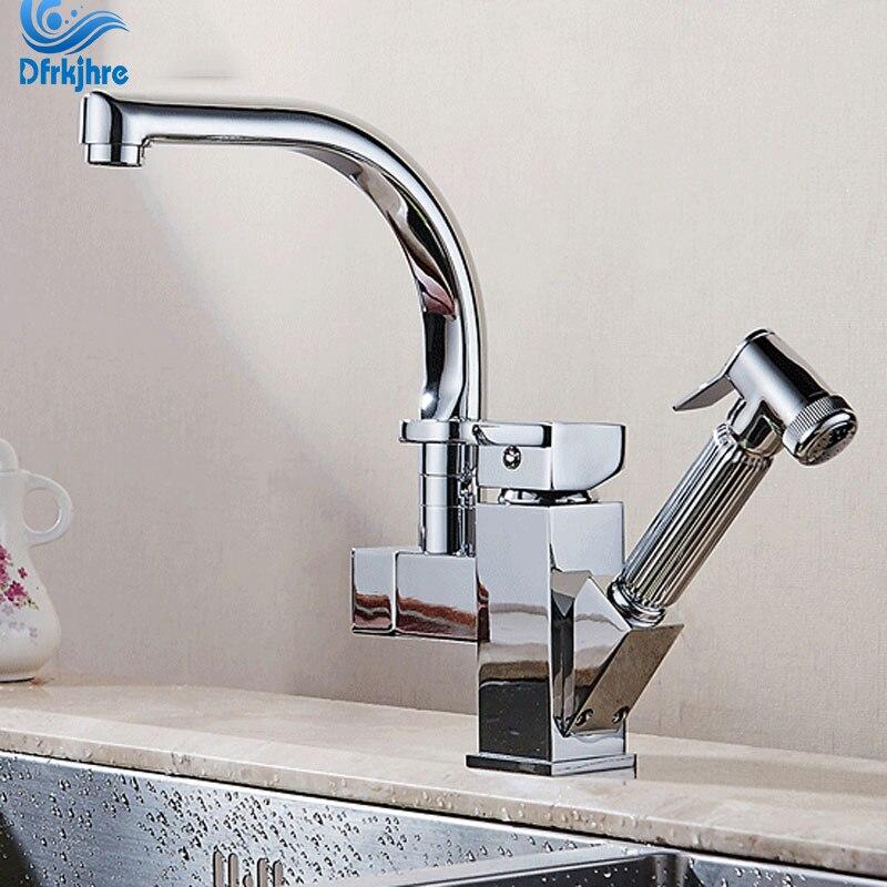1-2PC Hot/&Cold 50cm Flexi Hose Basin Waterfall Chrome Mixer Bathroom Sink Tap UK