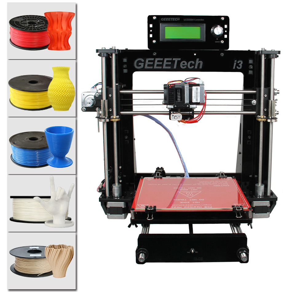 Geeetech I3 Pro B 3D Printer Acrylic Frame Newest Reprap Prusa DIY Kit Machine High Precision Impressora LCD Free geeetech m201 3d printer 2 in 1 out extruder reprap prusa i3 diy kit stl g code high resolution impressora lcd