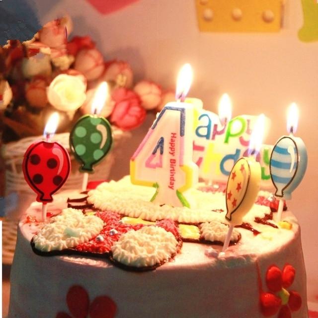 Baby Cartoon Happy Birthday Kerzen Food Grade Kids Kerze Nummer