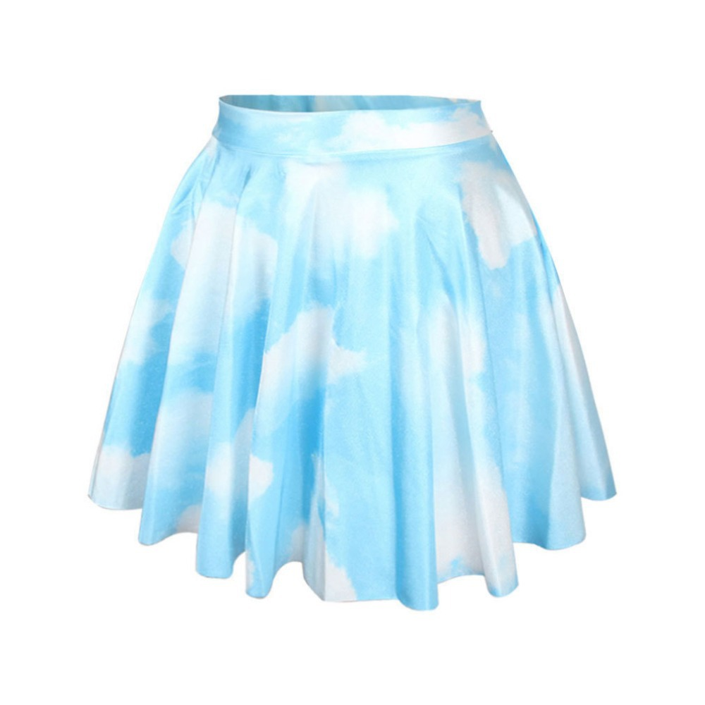 3e878bfb26820 Cool 3d fashion design Galaxy Skater skirts peacock Black Milk Skirt ...