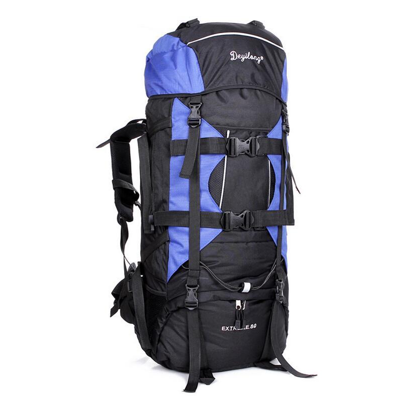 80L Large capacity Outdoor mountaineering bags travel backpack Outdoor bags Camping bagpack waterproof ripstop Hiking backpacks kerui pu mountaineering men s travel bags backpacks outdoor lesbian genuine large capacity