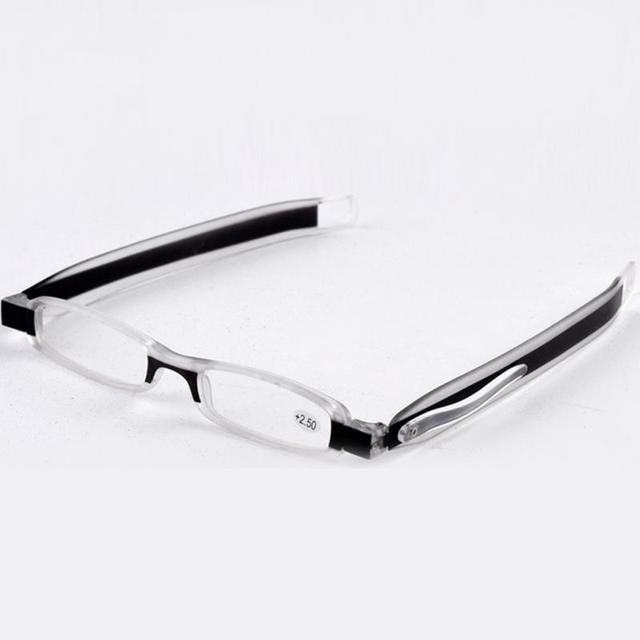 d3a1859c864 Unisex Portable 360 Degree Rotate Foldable Reading Glasses Mini Clear  Reader Eyewear Men Women 1.0 1.5 2.0 2.5 3.0 3.5 4.0