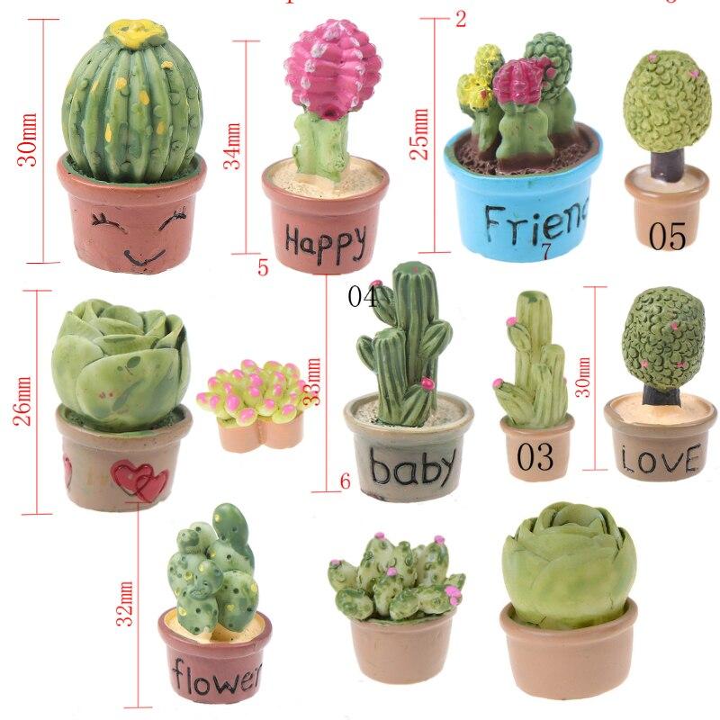 1:12 Miniature Home Decor Succulent Plants Mini Miniature Green Plant In Pot For Dollhouse Furniture Decoration