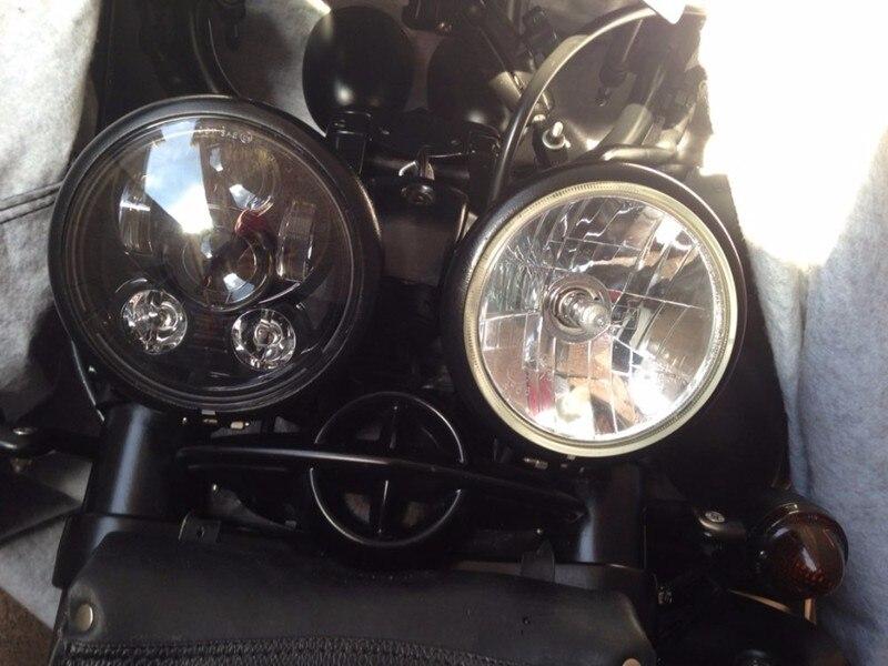 5.75 Inch Daymaker Projector LED Headlight for Harley Davidson Black.jpg56.jp