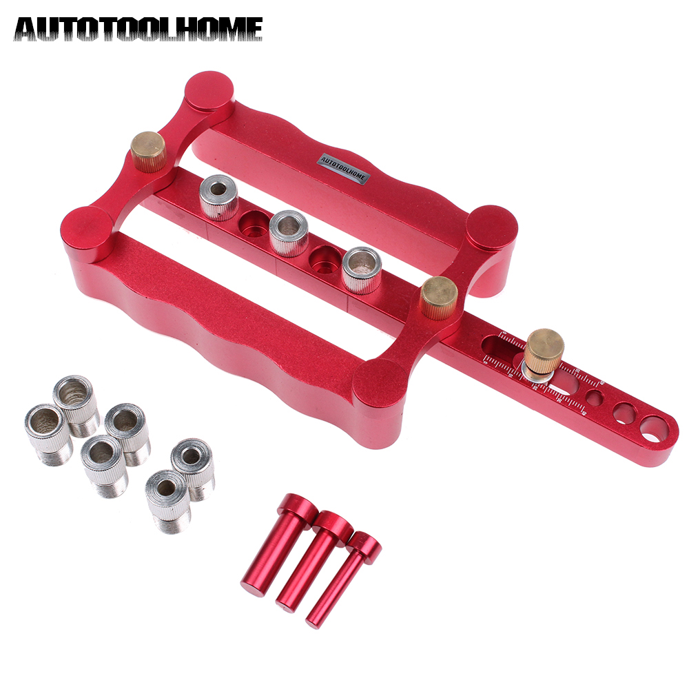 Woodworking Jig Accessories Self Centering Drill Guide Wood Drilling Kit 6 8 10mm Sleeves Wood Doweling