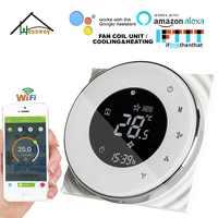 HESSWAY 2 P 3 geschwindigkeit fan spule einheit WIFI thermostat kühlung heizung für NO/NC Ventil control durch mit alexa google hause
