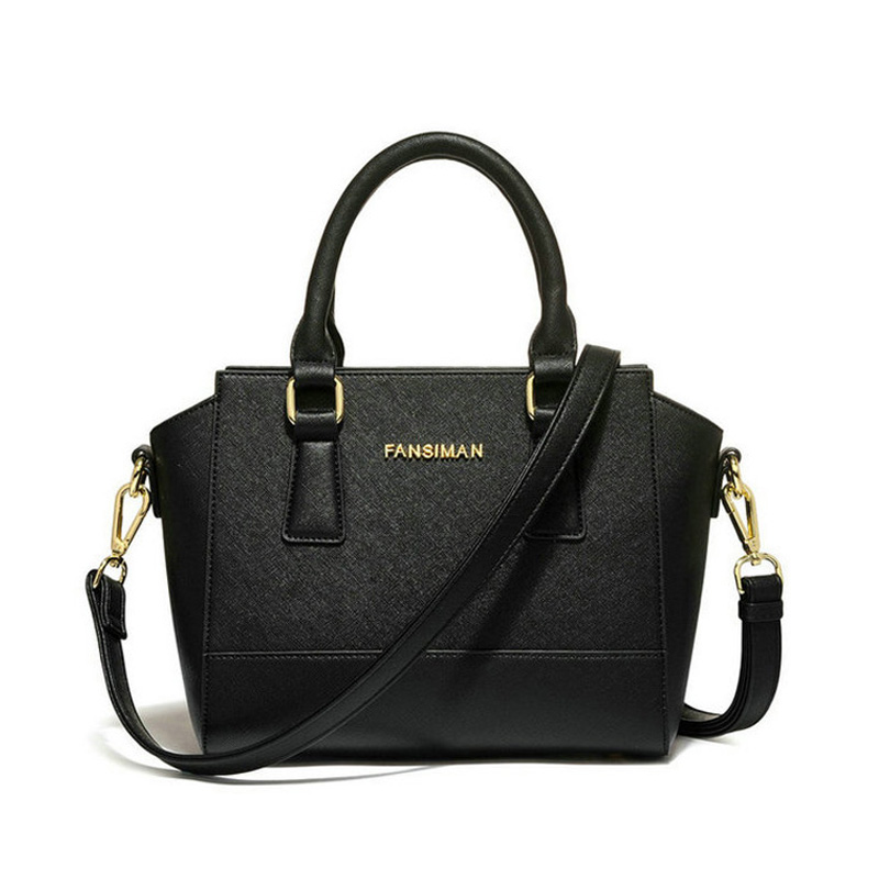 Fansiman Famous Brand 2019 New Women Bags Fashion Black Smile Shoulder Bag Luxury Handbags Ladies Bag