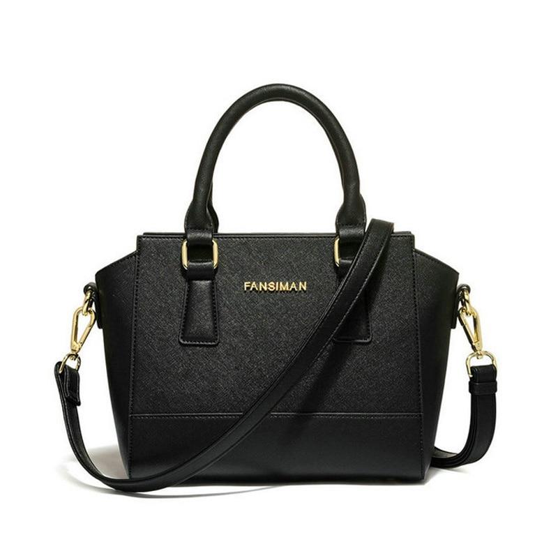 Fansiman famosa marca 2019 nuevos bolsos de mujer moda negro sonrisa bolso de hombro bolsos de lujo señoras Bolso pequeño diseñador bolsos de vestir-in Bolsos de hombro from Maletas y bolsas    1