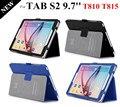 Высокое качество Tab S2 9.7 '' смарт-чехол чехол для Samsung Galaxy Tab S2 T810 T815 магнит планшет кожаный чехол + защитные пленки + стилус