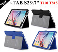 High Quality Tab S2 9.7'' Smart Case For Samsung Galaxy Tab S2 T810 T815 Magnet Tablet Leather Case  +protectors+stylus