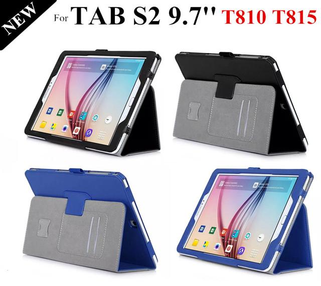 Tab alta qualidade S2 9.7 '' caso inteligente para Samsung Galaxy Tab S2 T810 T815 ímã Tablet capa de couro + protetores + stylus