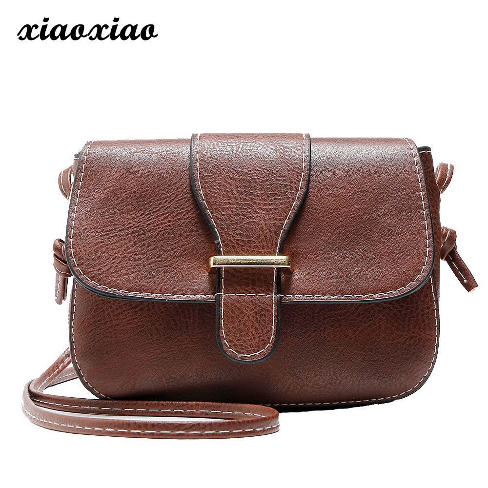 2018 Vintage PU Leather Women Bag Fashion Small Women Messenger Bag Single Strap Shoulder Bag Crossbody Bags