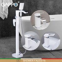 GAPPO Shower Faucets white chrome do anheiro shower faucet mixer floor mounted bath shower mixer bathtub faucet basin faucet
