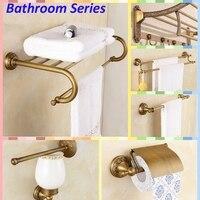 Wholesale And Retail Solid Brass Bathroom Shower Antique Brass Towel Hanger Holder Bar