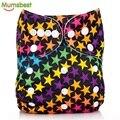 [Mumsbest] capa lavável reutilizável bebê fraldas de pano de um tamanho ajustável à prova d' água & respirável fralda capa