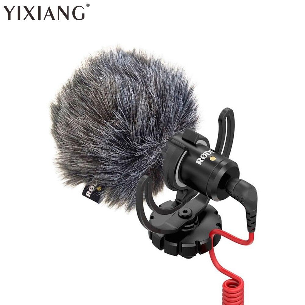 YIXIANG Rode Video Micro Compact Camera Recording Microphone for Camera DJI Osmo DSLR Camera SmartphoneVideo for Canon Nikon цена