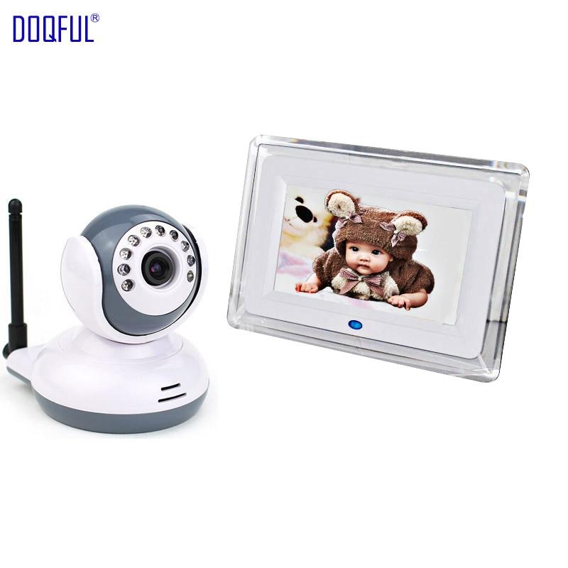 7 Inch Digital Wireless Baby Monitor Video Audio Night Vision Nanny Camera