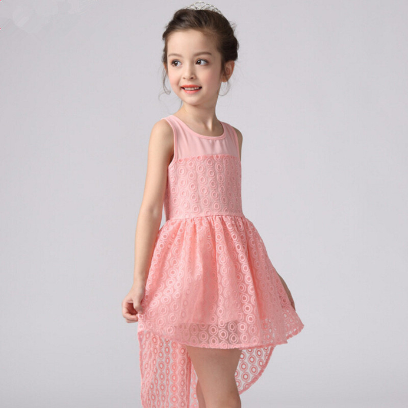 3-13Y flowers wedding party dress for girl dot kids clothes children princess dresses baby clothing vestidos girls new girls flowers dress for wedding and party summer baby clothes princess kids dresses for girl children costume 3 10t w1625133