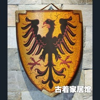 Iron Armor Shield Of Ancient Rome Metal Decoration Bar Western Style Food Simulation Retro Living Room