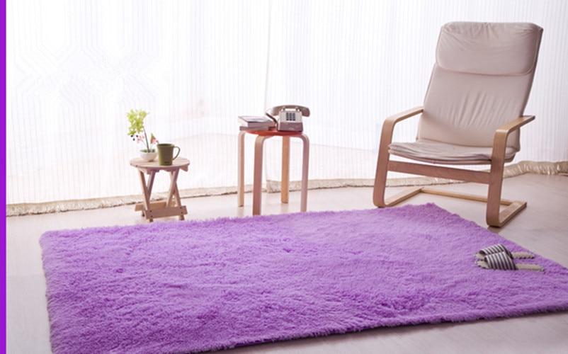 Light Purple/Plum160x230cm Anti Slip Soft Shaggy Home Area Rug Dining Room  Big Carpet ...
