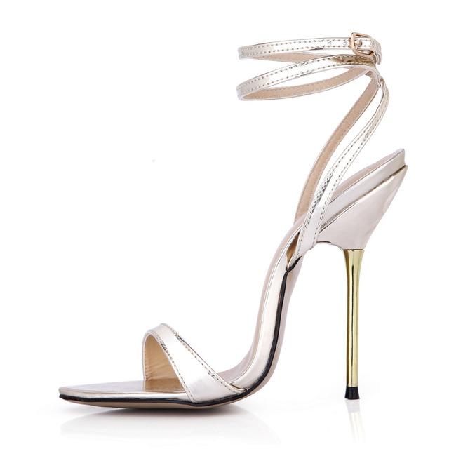 Sexy Cinta Mulheres Sapato Tamanho 43 Sandália Verão Moda Sandálias de Salto Alto