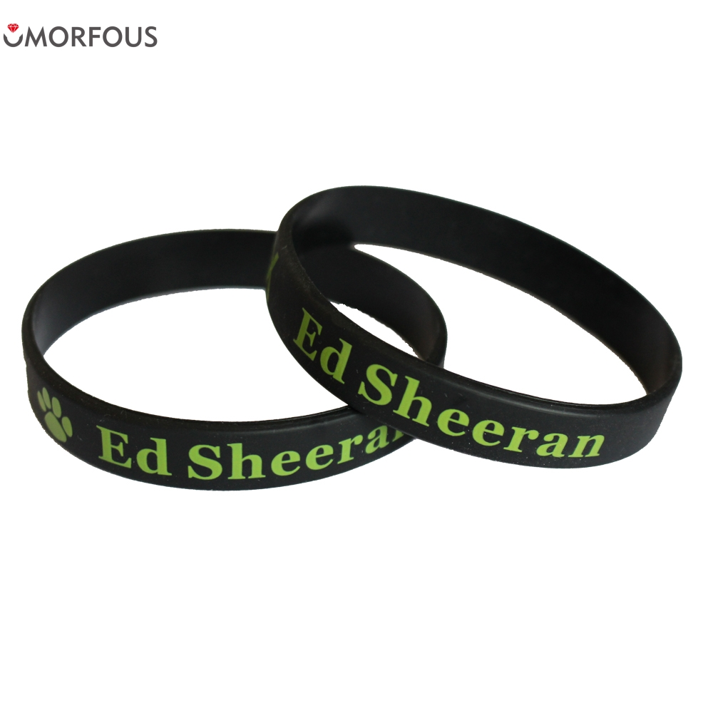 1PC X Ed Sheeran Silicone Wristband Perfect To Used In Any Benefits Gift Fans