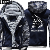 USA SIZE Game Of Thrones House Baratheon Winter Fleece Coat Print Hoodies Thicken Sweatershirts Unisex