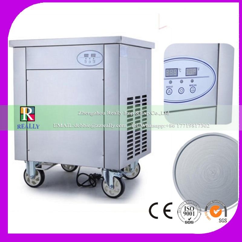 Single ice cream pan fried ice cream machine roll small|cream machine|ice cream machine|fried ice cream machine - title=