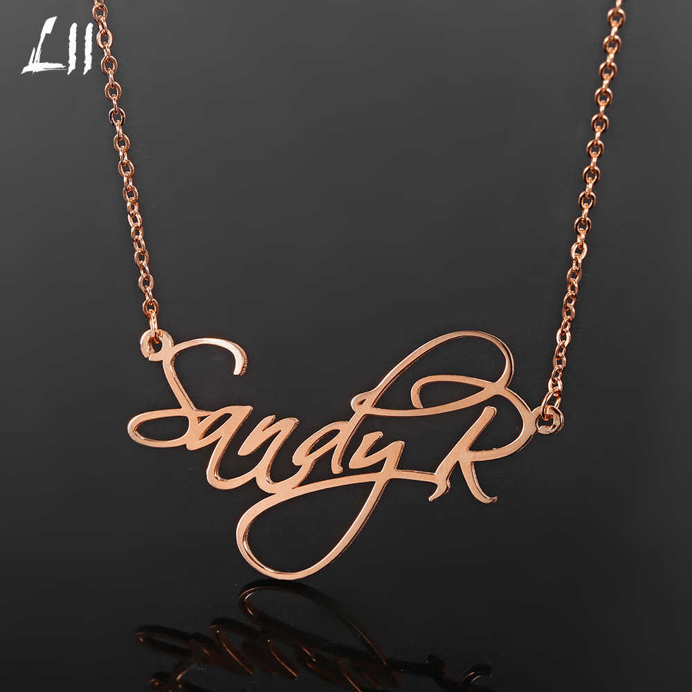 Steel Personalized Name Necklace Custom Namenecklace For Women Nameplate Necklace Customized Jewelry Gift for Her Dropshipping