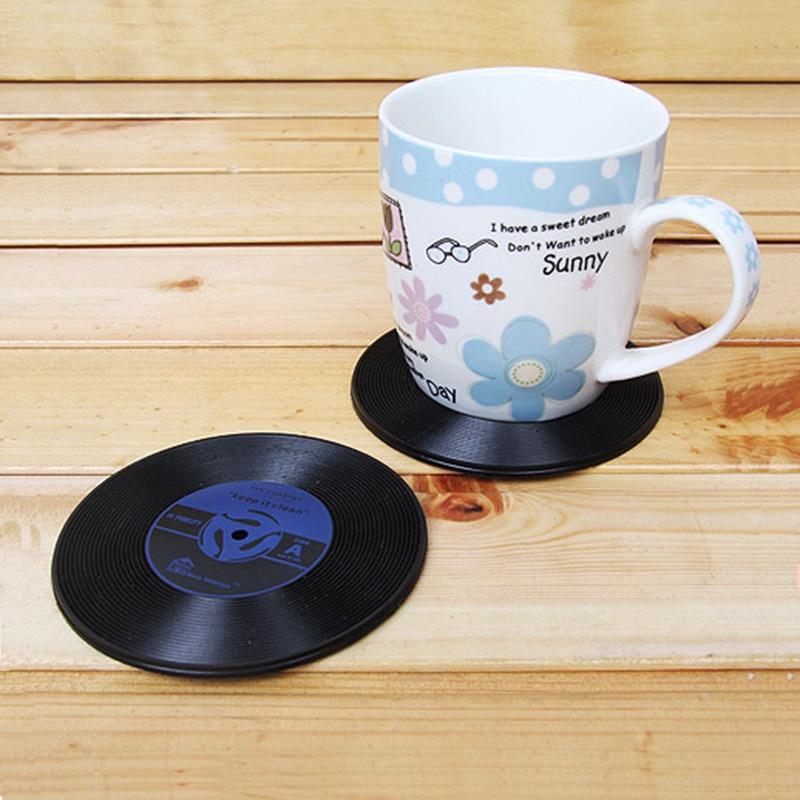4pcs Lot Hot Sale Vinyl Coaster Retro Vinyl Cd Record