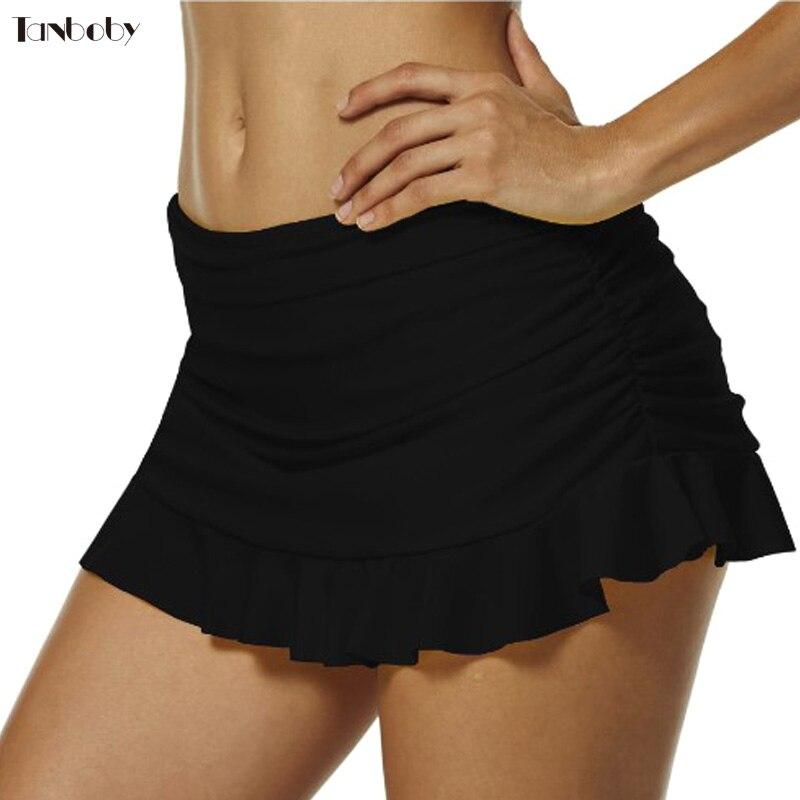 Beach Cover Up Swim Suits Black/White Swim Mini Skirt Bottom Bikinis High Quality Large Size Beach Dress Bikini 1 Pieces Coverup
