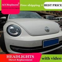AUTO.PRO For VW Beetle headlights 2013 15 for VW Beetle LED light bar xenon Q5 bi xenon len HID kit projector LED Blub