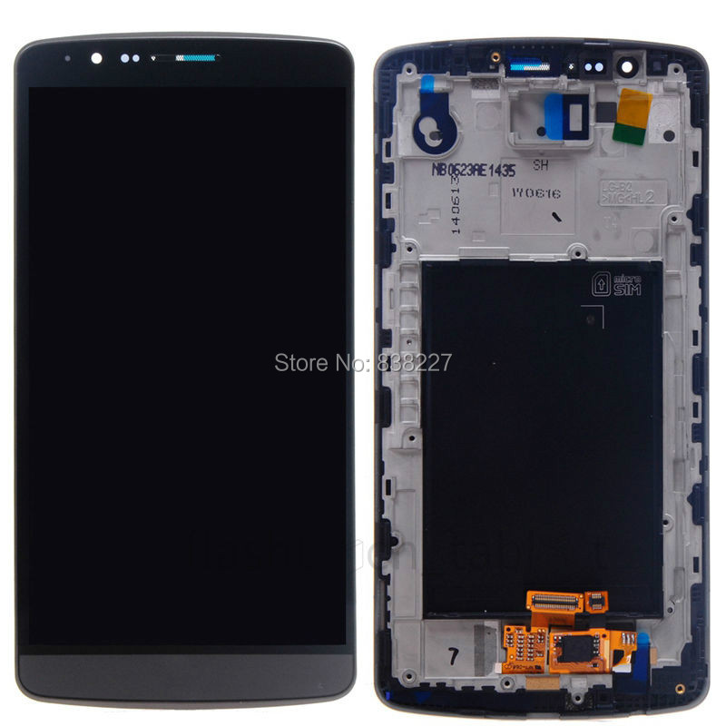 ФОТО 100% Tested For LG G3 D858 D855 D850 D851 LCD Display + Touch Screen Digitizer + Frame Assembly with/without 4G logo Random